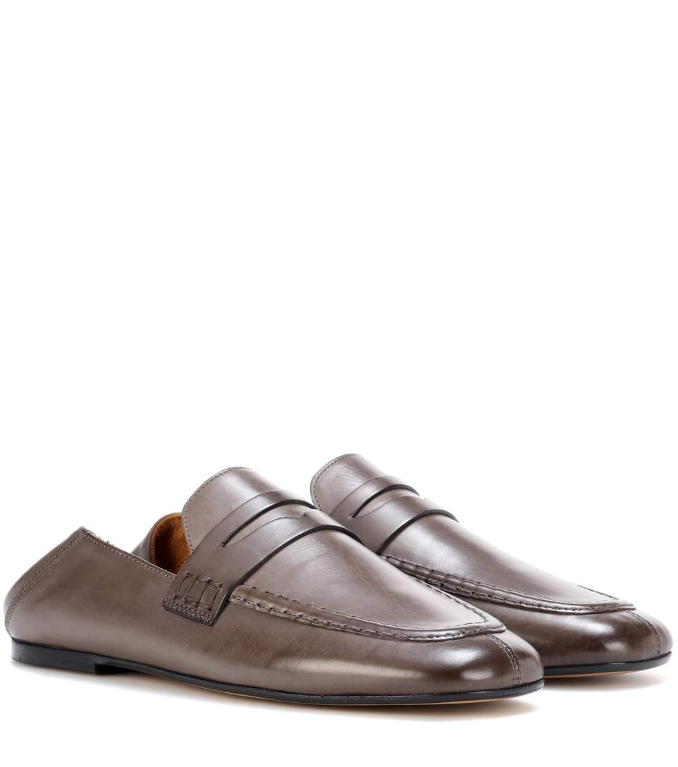 Isabel Marant Fanzel Leather Loafers In Brown