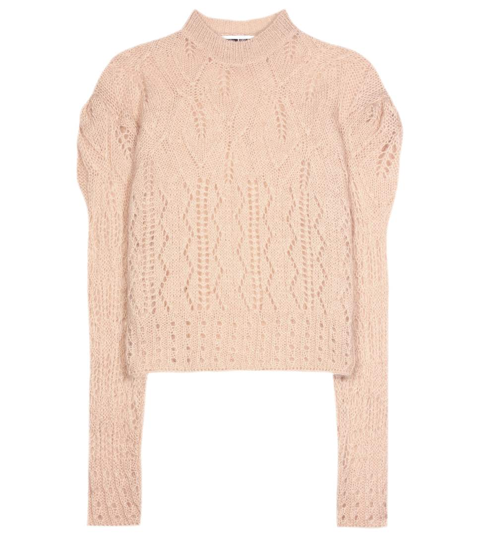 Mcq By Alexander Mcqueen Mohair-blend Knitted Sweater In Beige