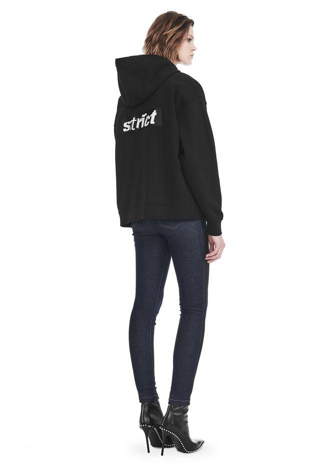 Alexander Wang Exclusive Oversized Hoodie With Strict Patch In Black