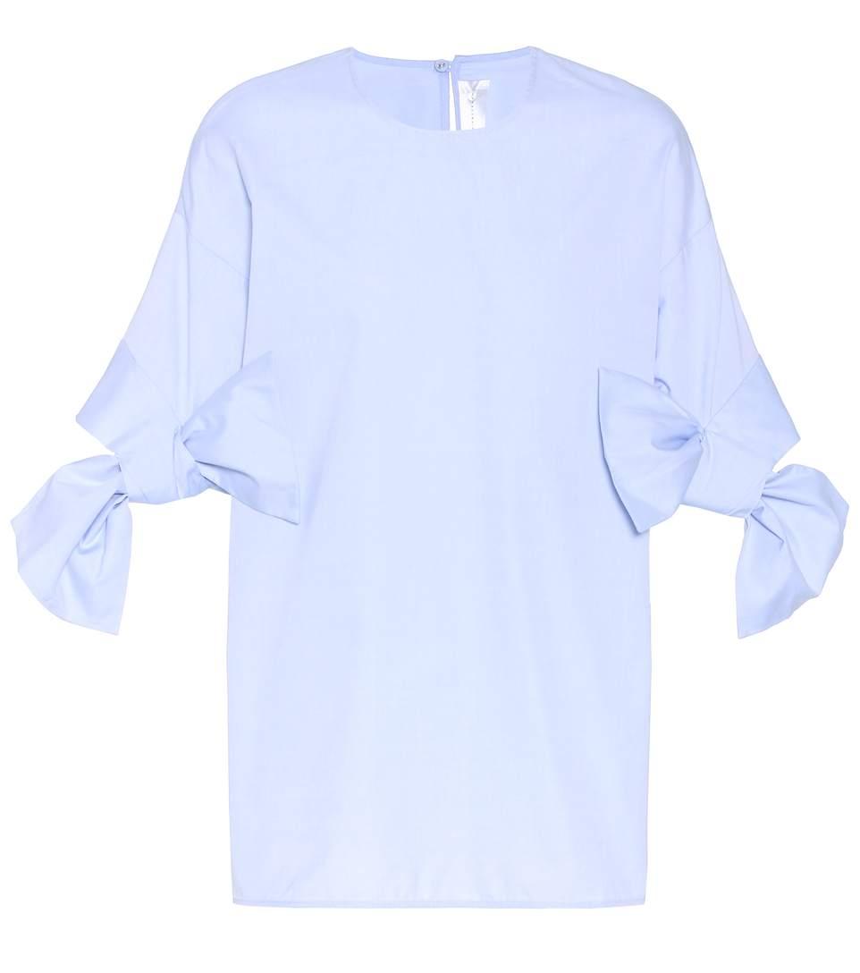 Victoria Victoria Beckham Cotton Top In Blue