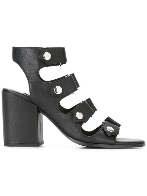 Senso Stella Leather Heeled Sandals In Nero