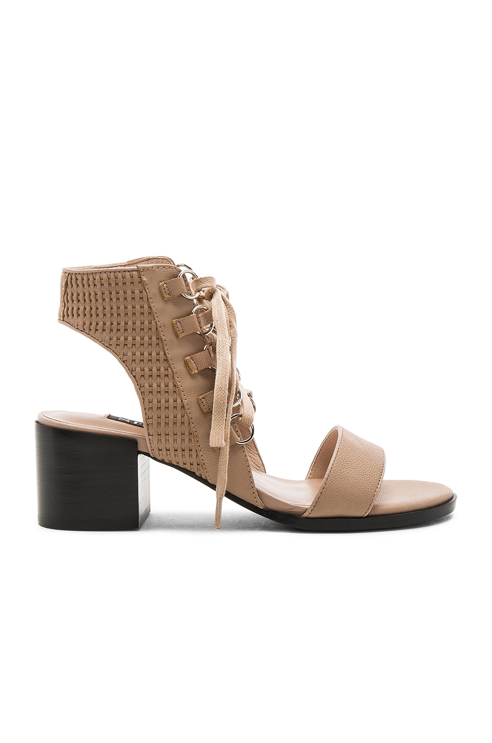 Senso Milo Lace-up Leather Sandals In Caramel