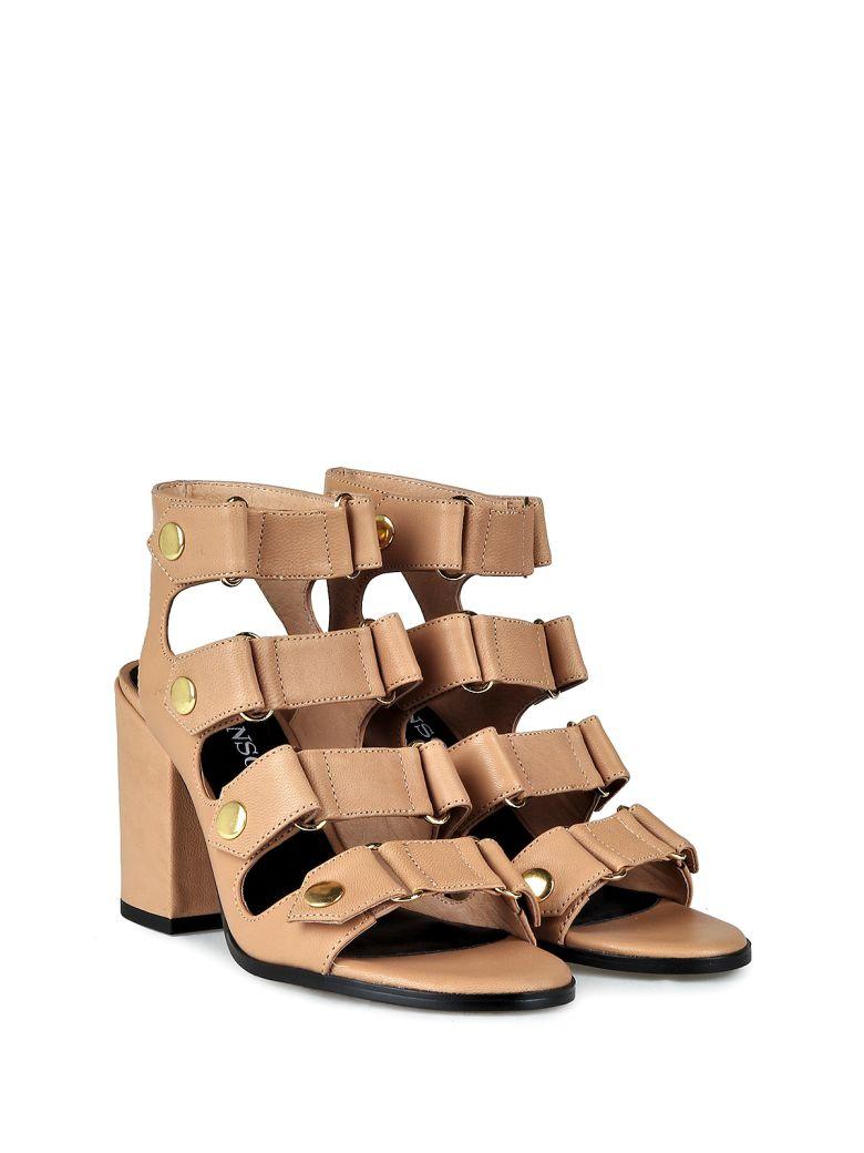 Senso Stella Leather Strappy Sandals In Beige