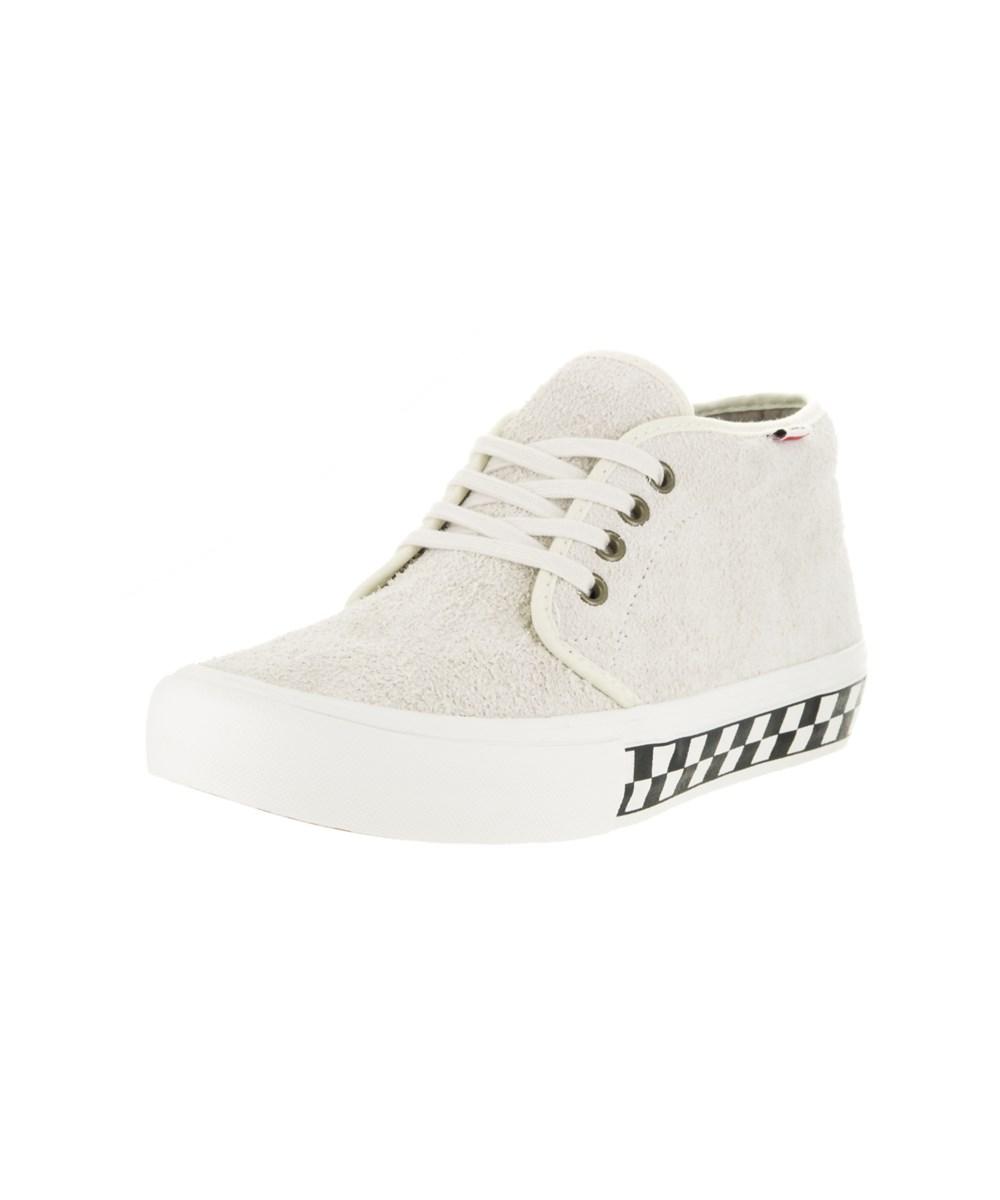 Vans Men's Chukka Pro (foxing Checkers) Skate Shoe In White