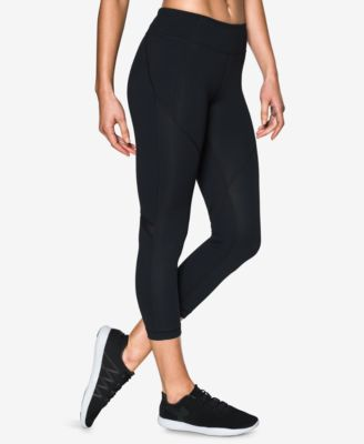 Under Armour Mirror Studiolux High-rise Cropped Leggings In Black