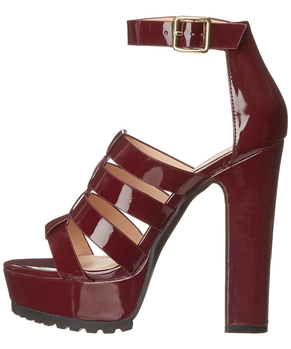 Steve Madden Womens Groove Leather Open Toe Casual Platform Sandals In Purple