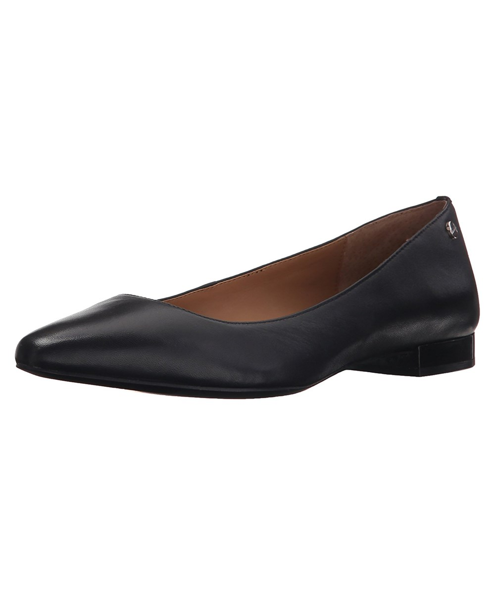 Calvin Klein Womens Elle Pointed Toe Loafers In Black