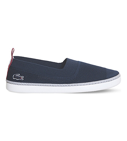 Lacoste L.ydro Canvas Sneakers In Navy