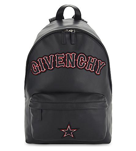 Givenchy Black Gothic Logo Nano Backpack Bag