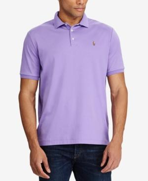 Polo Ralph Lauren Men's Big & Tall Classic Fit Cotton Polo In Purple