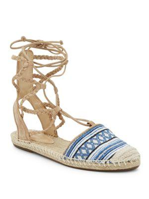 Schutz Kobi Lace-up Espadrille Flats In Diamond Blue