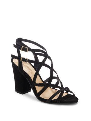 Schutz Open Toe Cage Sandals In Black