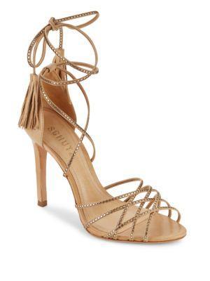 Schutz Dorinha Stiletto-heel Sandals In Lightwood