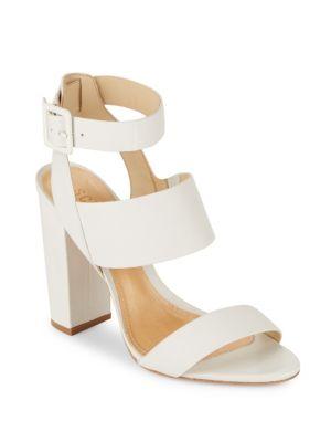 Schutz Franzen Leather Sandals In White