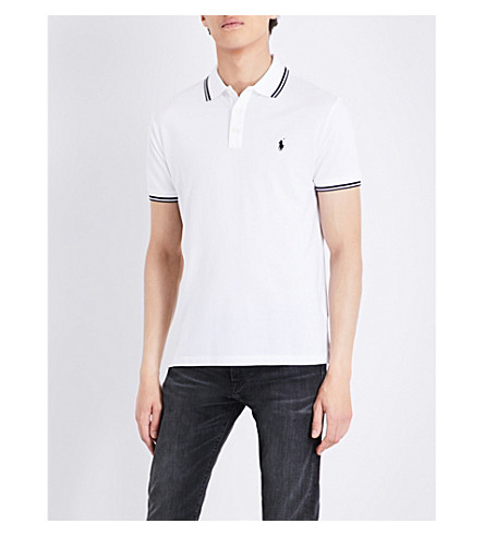 Polo Ralph Lauren Custom Slim-fit Cotton Polo Shirt In White