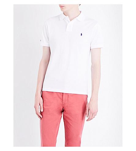 Polo Ralph Lauren Slim-fit Cotton Polo Shirt In White