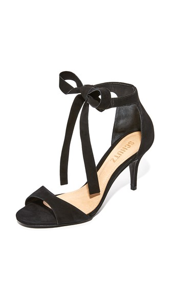 Schutz Tilan Wrap Pumps In Black