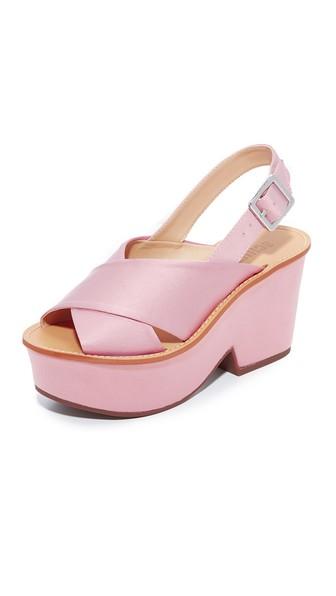 Schutz Miriam Platform Sandals In Rose/tan