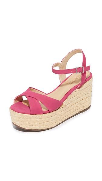 Schutz Keisi Platform Sandals In Rose Pink