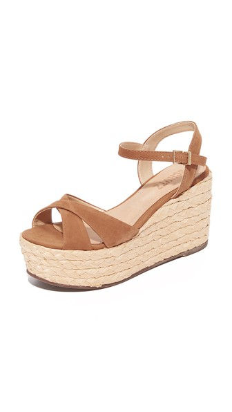 Schutz Keisi Platform Sandals In Desert