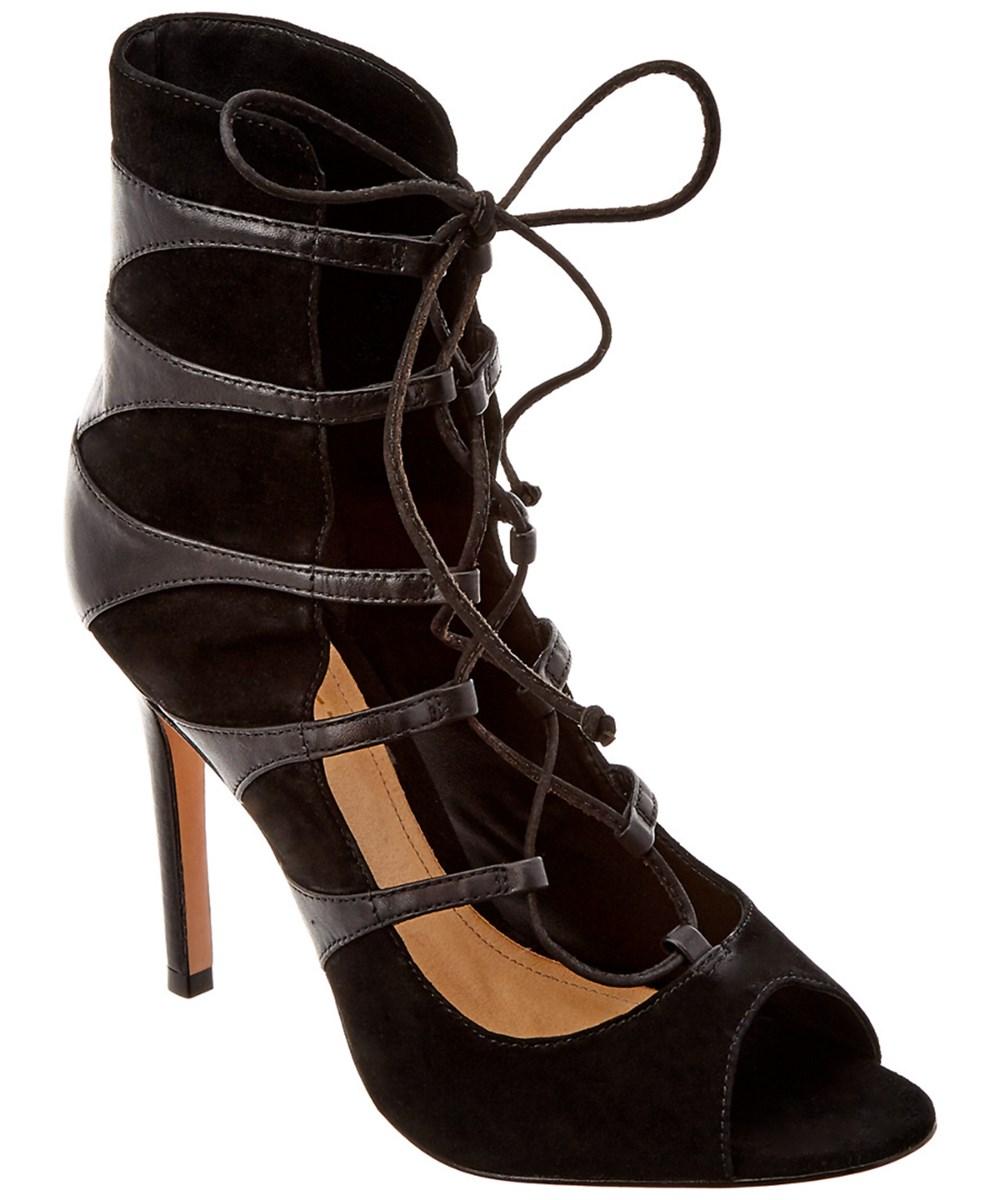Schutz Kardita Suede Sandal In Black