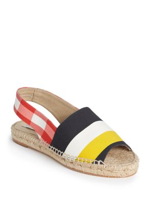 Stella Mccartney Women's Striped Espadrilles In Red, Black And Yellow