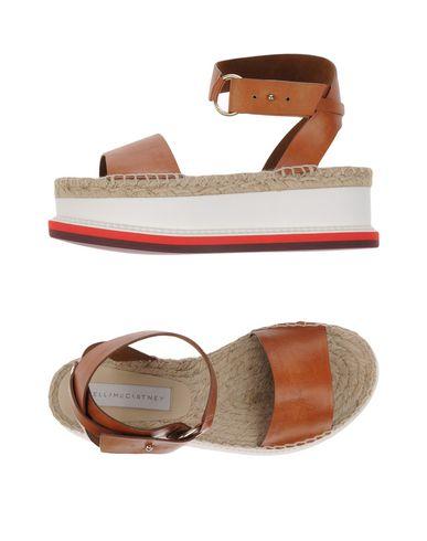 Stella Mccartney Faux-Leather Espadrille Platform Sandals In Brown