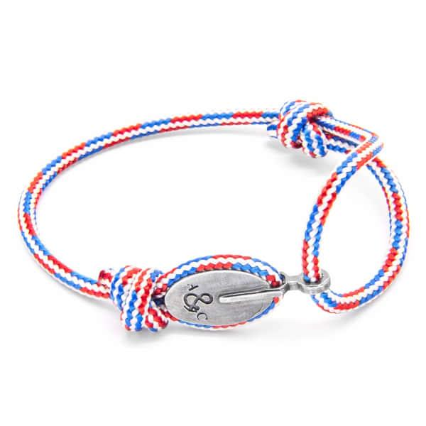 Project-Rwb Red White & Blue London Silver & Rope Bracelet
