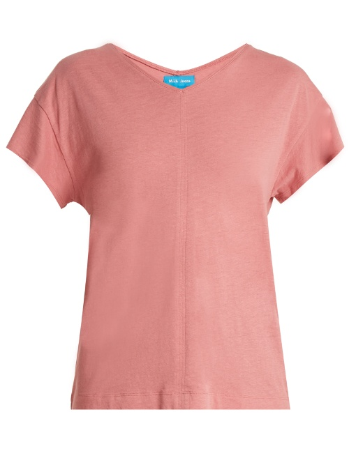 M.i.h Jeans Veevee Cotton-blend T-shirt In Light Pink