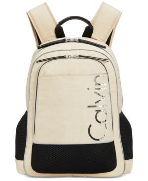 Calvin Klein Casual Medium Backpack In Almond