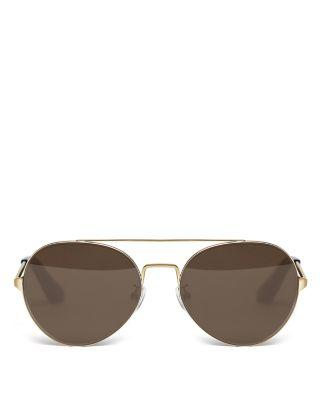 Elizabeth And James Women's York Sunglasses, 54mm In Gold/brown Solid