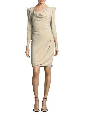 Vivienne Westwood Solid Three-quarter-sleeve Sheath Dress In Off White