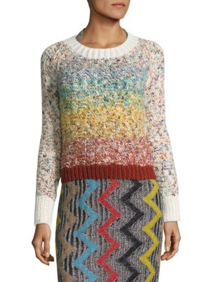 Missoni Mixed-Stitch Wool-Blend Sweater In Multi Degrade