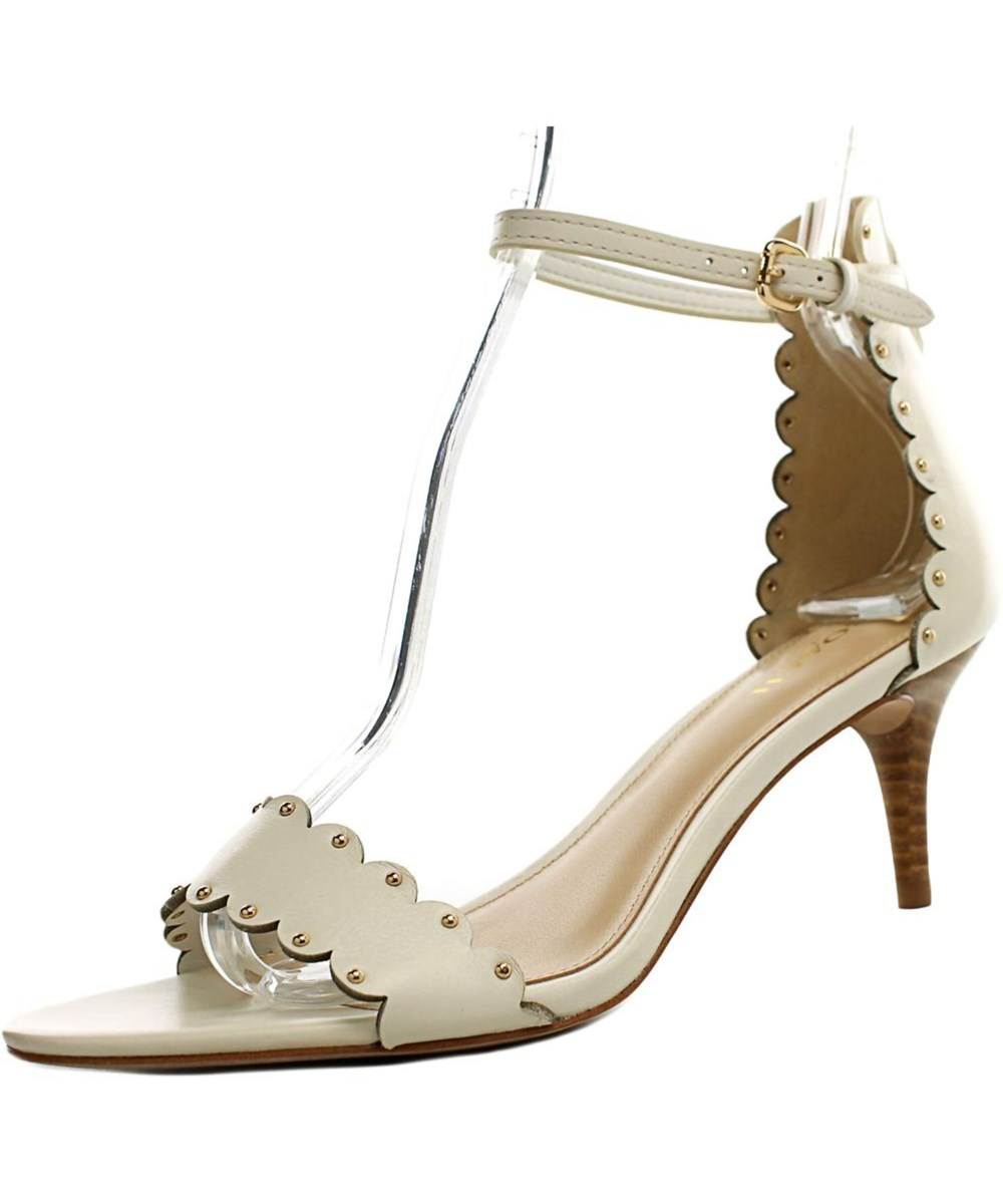Coach Monica Women  Open Toe Leather Ivory Sandals
