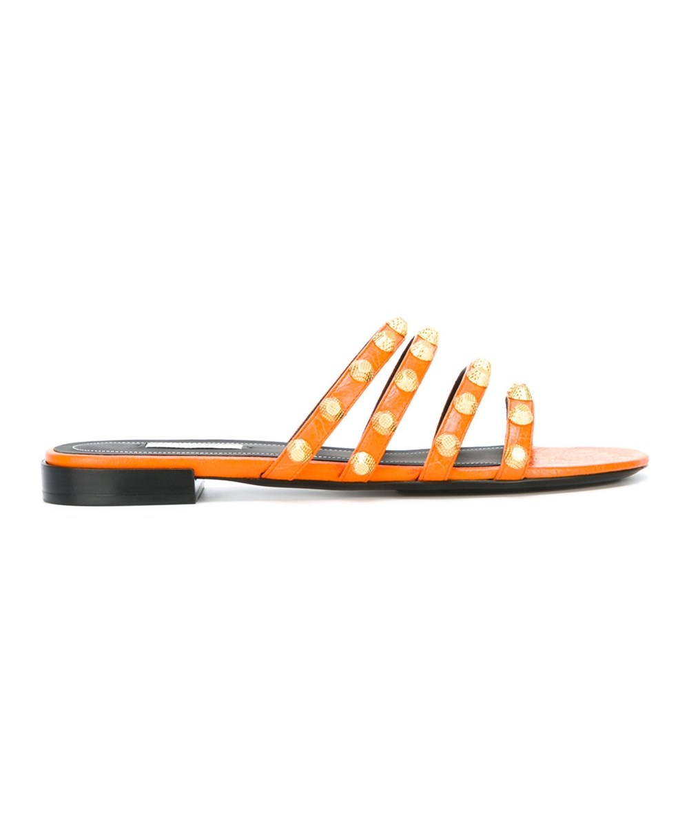 Balenciaga Women's  Orange Leather Sandals