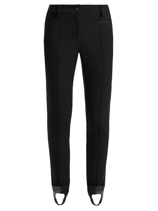 Fendi High-rise Stirrup-hem Ski Trousers In Black