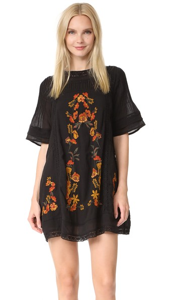 Free People 'perfectly Victorian' Minidress In Black