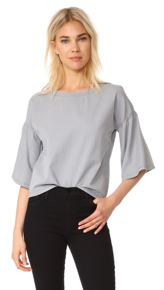 J Brand Diane Top In Cinereal