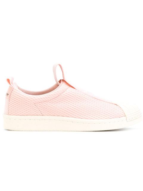 Adidas Originals Superstar Bw Slip-on Sneakers In Pink