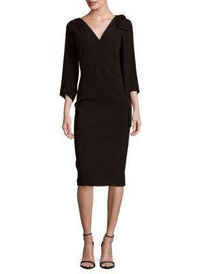 Dsquared2 V-neck Bow Overlay Dress In Black