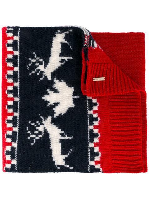 Dsquared2 Intarsia Knit Scarf