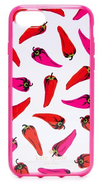 Kate Spade Hot Pepper Iphone 7 Case In 透明色混色