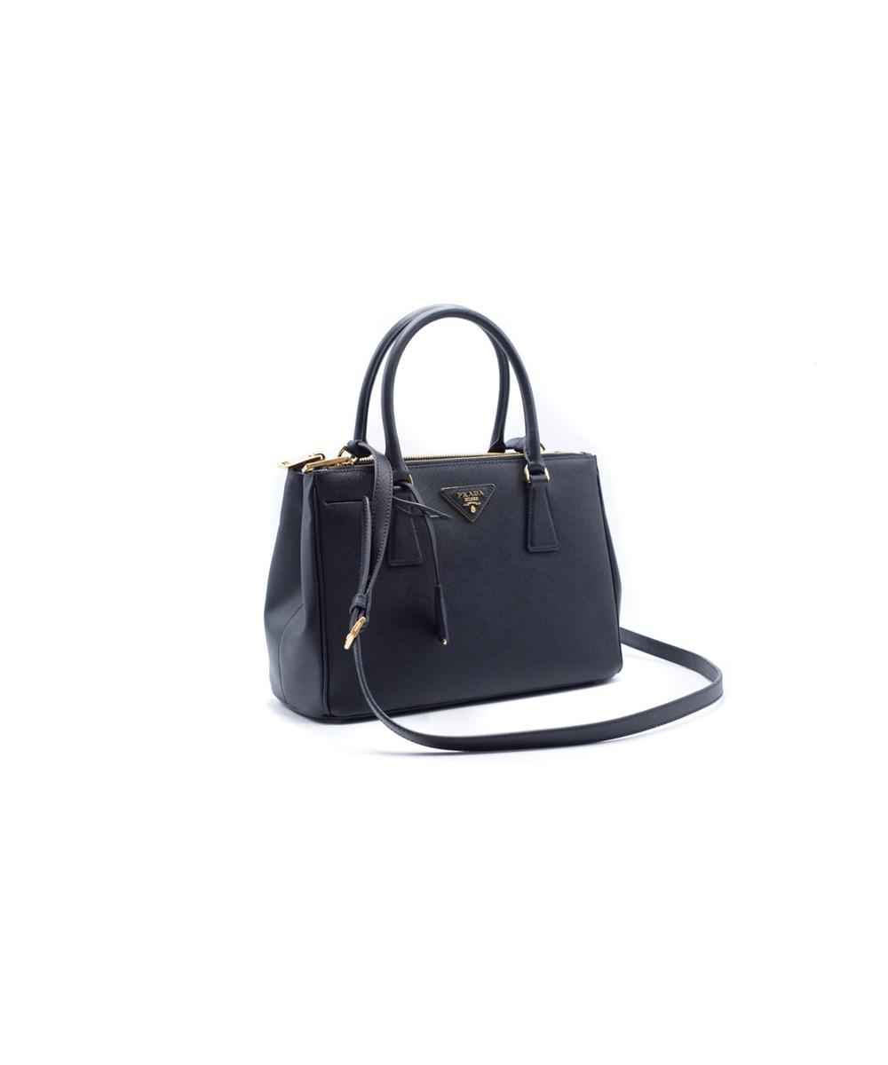 170e8a097cf4 Prada Women's Small Esplanade City Black Leather Satchel Bag | ModeSens