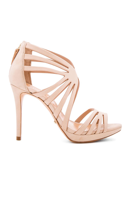 Schutz Yasmine Leather Stiletto Sandals In Bellini
