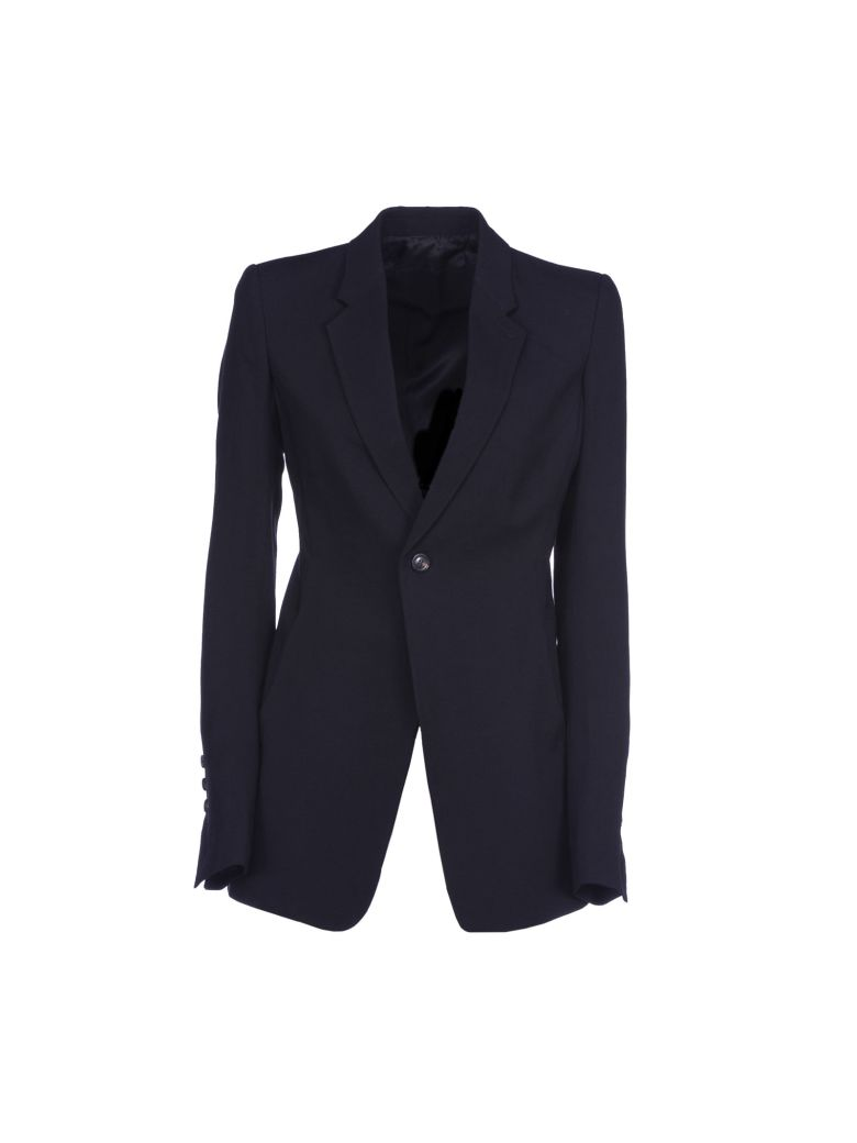 Rick Owens Wool And Silk Jacket In Black