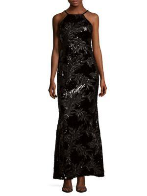 Calvin Klein Sequin Sleeveless Dress In Black