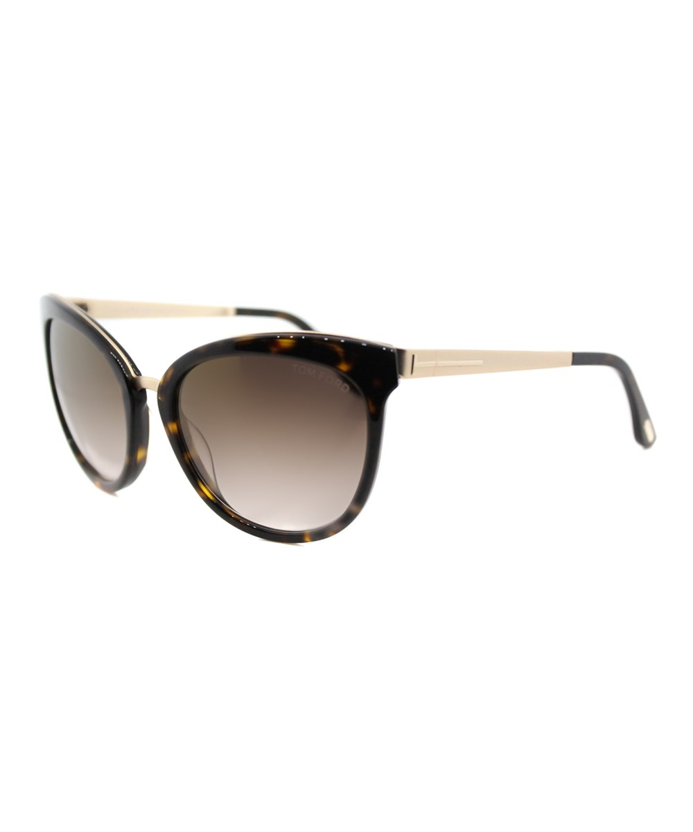 Tom Ford Emma Cat-eye Plastic Sunglasses In Brown