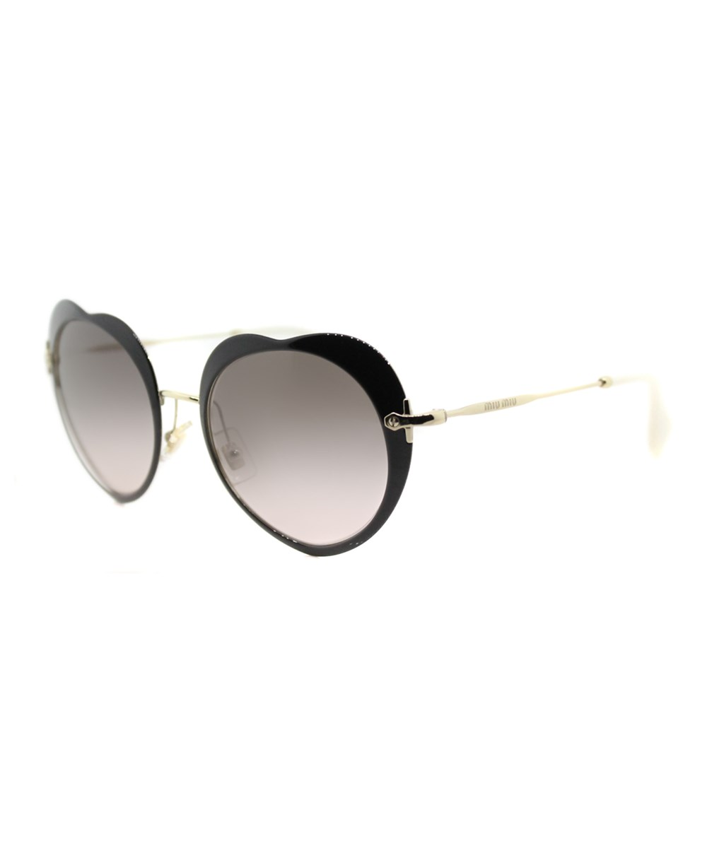 Miu Miu The Collection  Fashion Metal Sunglasses In Black