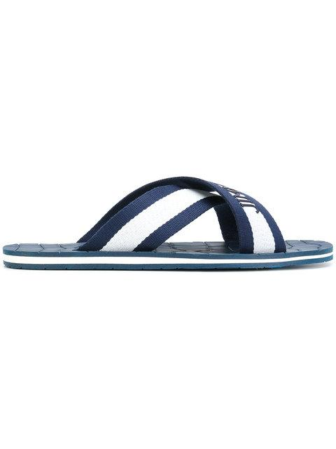 Jimmy Choo Branded Flip Flops - Blue
