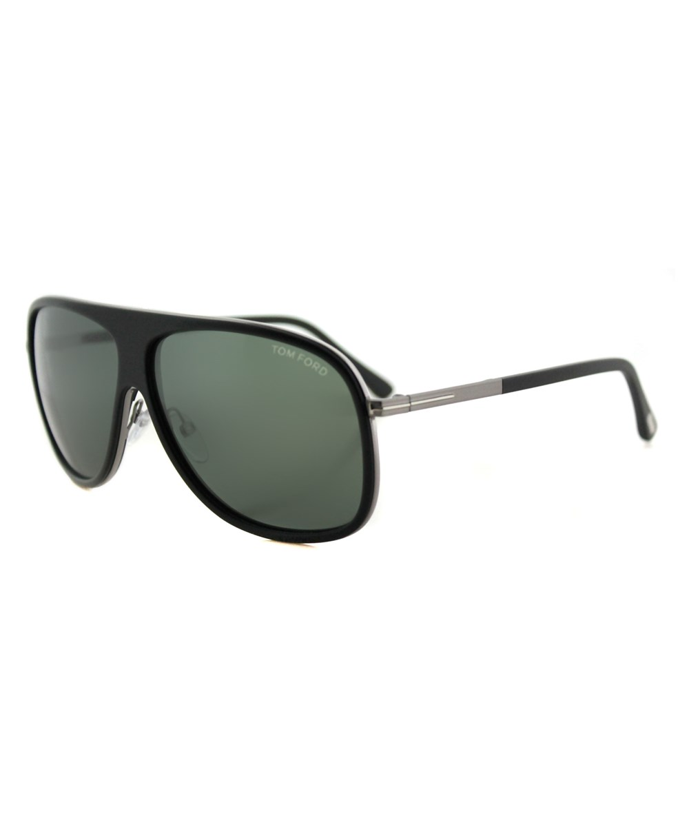 Tom Ford Chris Aviator Plastic Sunglasses In Black